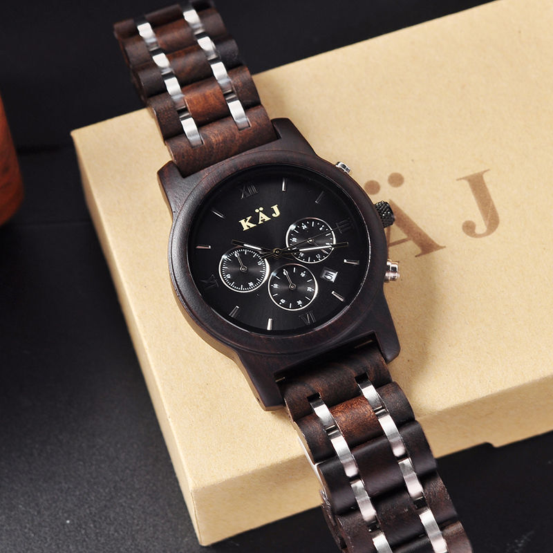 Automatic Wooden Watch for Men - alt image 5